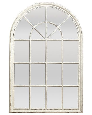 Window pane mirror arched windows and window panes on for Window wall mirror