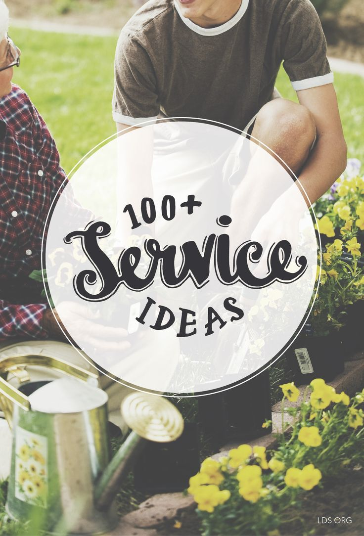 100+ simple service ideas you can share with your kids. #LDS