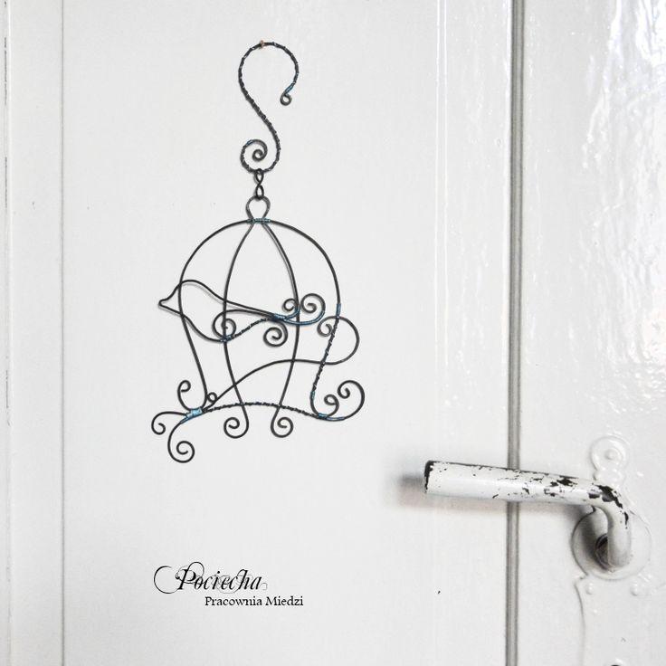 Bird cage - dekoracyjna zawieszka z metalu - Inne dodatki - Sklep Trendsetterka.com #home #decor