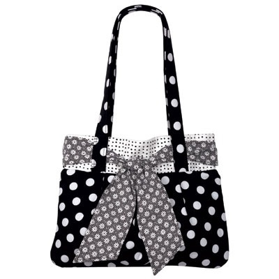 Cute bag. Unlike the others, this is a pattern and you could use it to make those jean bags too. Love the bow.