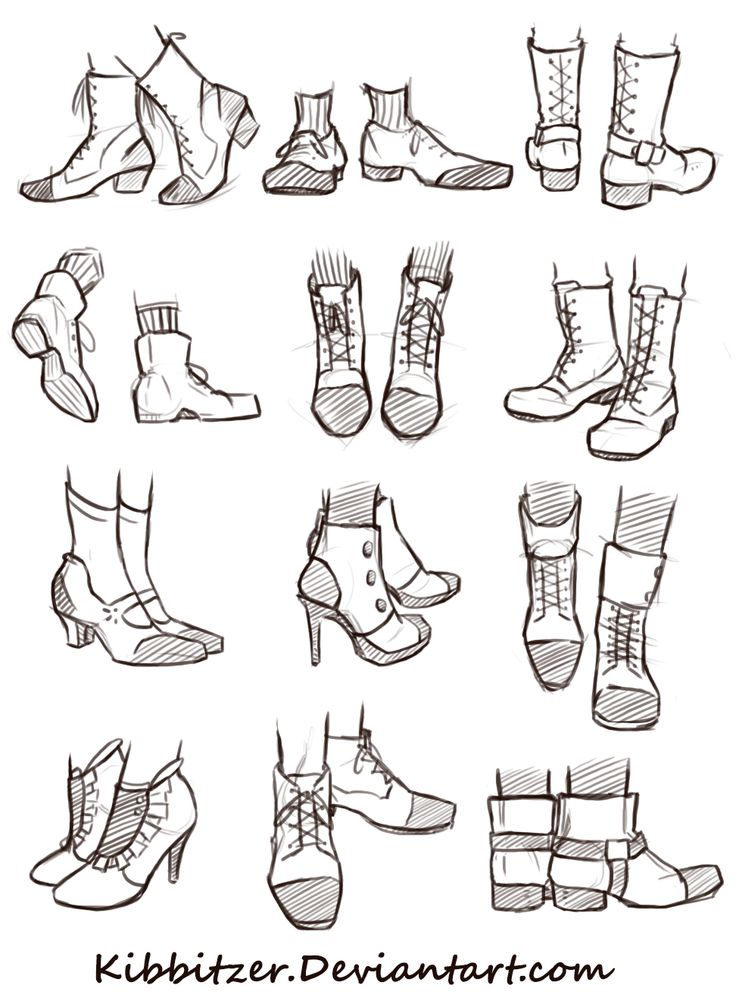 shoes reference drawing - Pesquisa Google