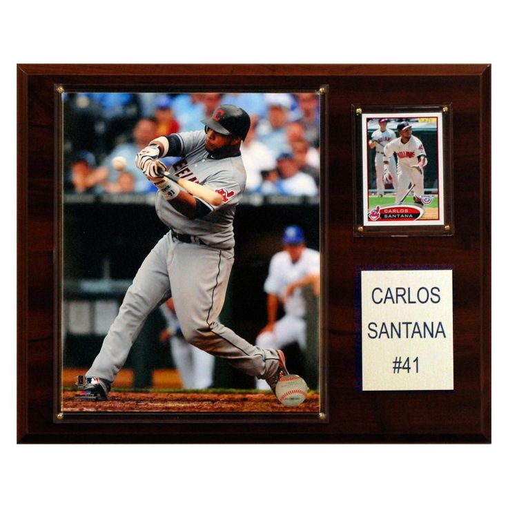 MLB 12 x 15 in. Carlos Santana Cleveland Indians Player Plaque - 1215CSANTANA