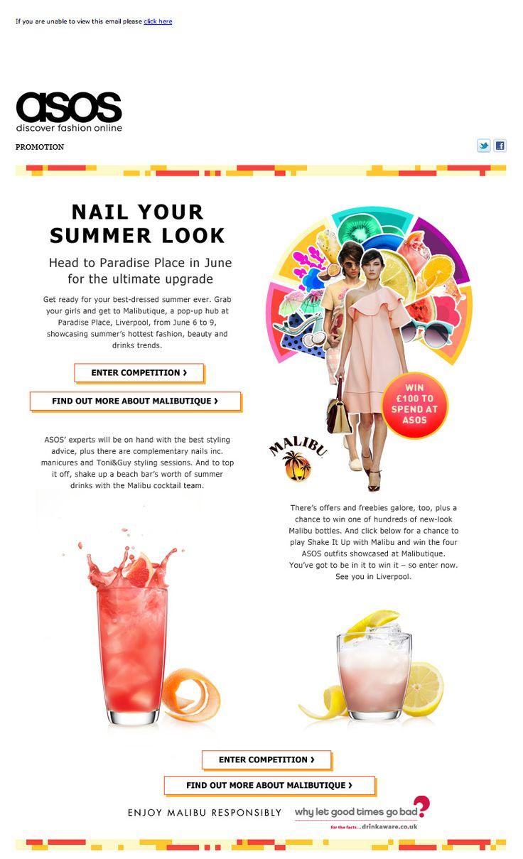 Malibutique promo email