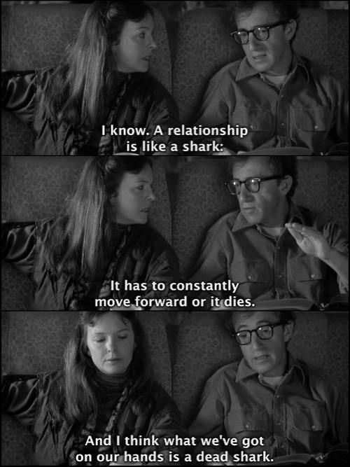 Annie Hall. Sense of humor. story about love.