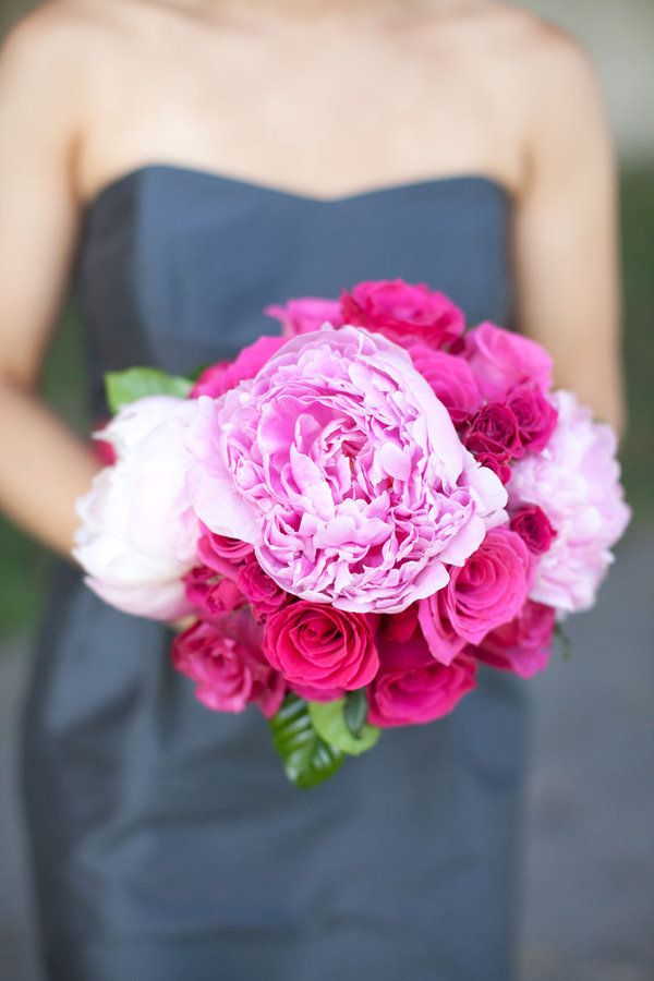 Peonies & roses - lovely combo