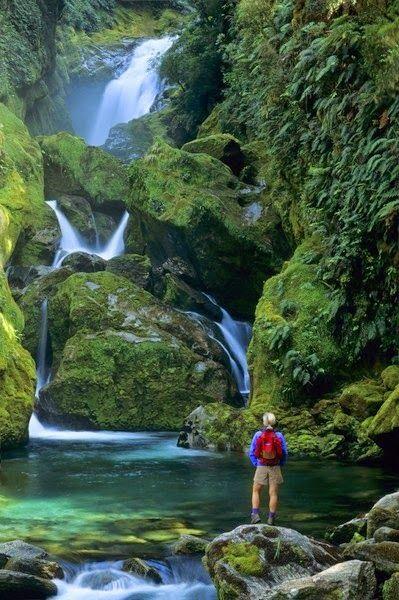 Parque Nacional Fiordland, Nova Zelandia.