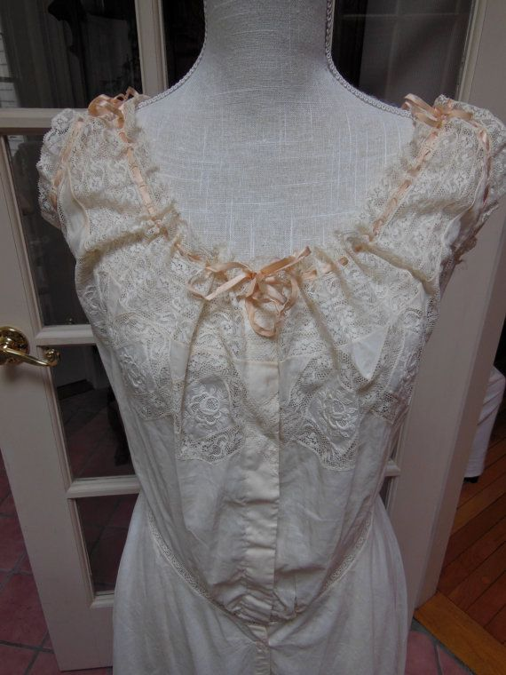Gorgeous Vintage Victorian Edwardian camisole bloomers lingerie under-garment.  Lovely Lace & ribbon touches . Great for Victorian wedding on Etsy, $135.00