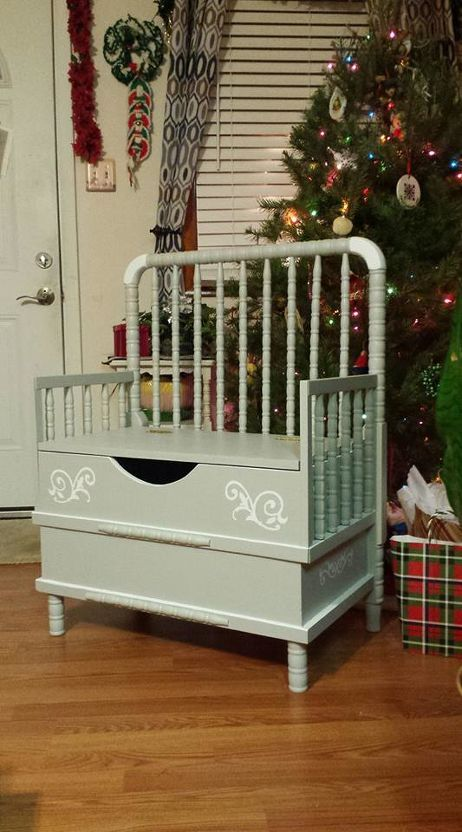 Transform Your Old Crib Into Your Mudroom Centerpiece Old Cribs Repurposed Furniture Old Baby Cribs