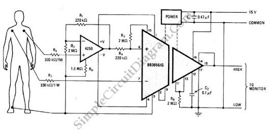 Monitor circuit schematic diagram | Electrical Projects in ... on