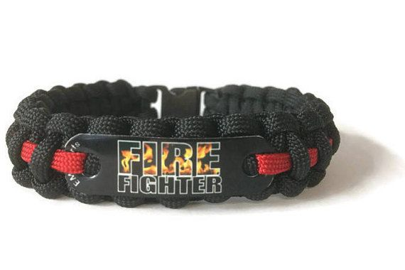Firefighter Bracelet Thin Red Line Gift For For Men Or Women
