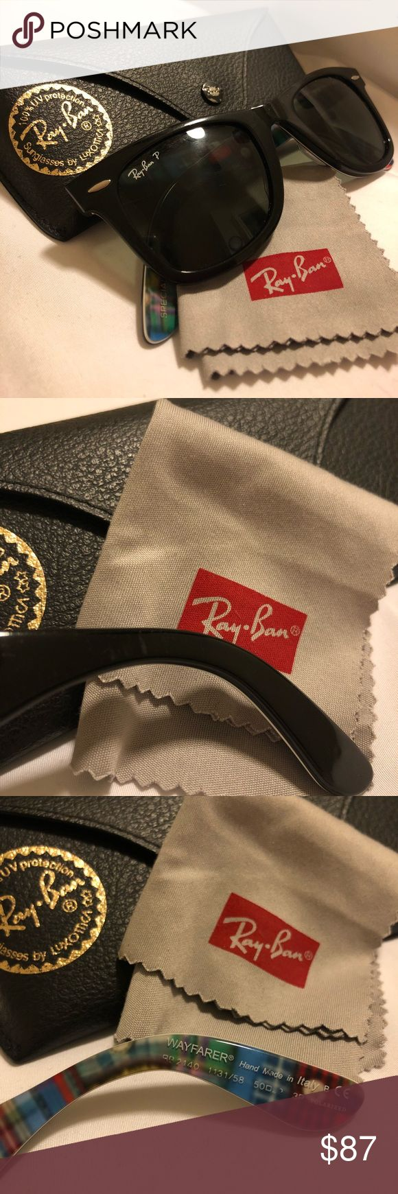 Ray Ban Wayfarer Polarized LIKE NEW! Original Special Series #10 Wayfarer Polarized Ray Bans. Case, cloth and care book included!! Almost perfect condition with a few scratches shown below.   You'll love these! 😊   Size: 11 31 58 Ray-Ban Accessories Glasses