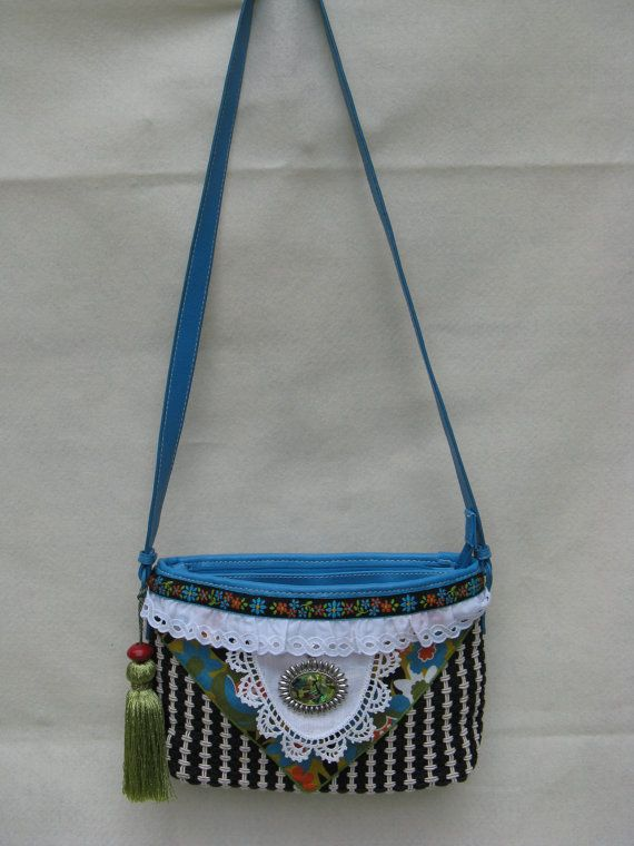 Very Cute Liz Claiborne Upcycled Shoulder Bag by FruitfullHands, $35.00