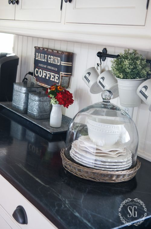 25 Best Ideas About Kitchen Staging On Pinterest Grey Cabinets Coffee Area And Keurig Station