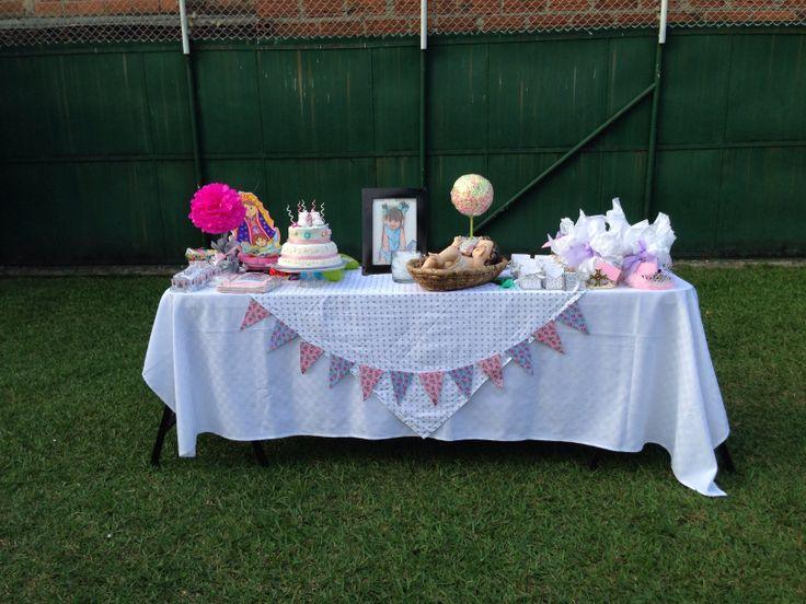 Cumpleaños #1 niña decoración mesa