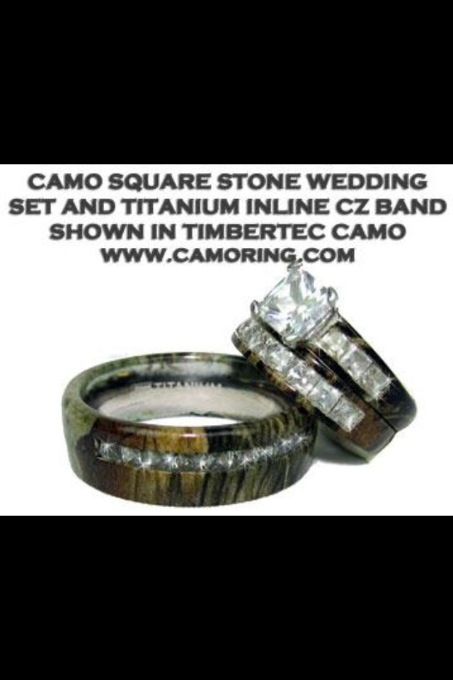 Fabulous Camo wedding rings
