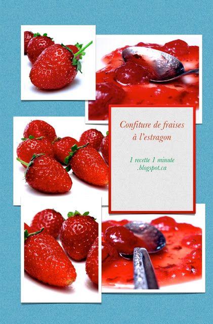 Confiture de fraises à l'estragon