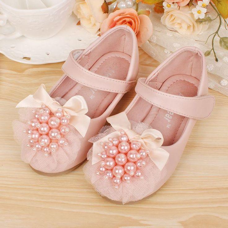 c88092a toptan butik falt ayakkabı kızlar prenses ayakkabıları küçük inci çocuklar kız elbise ayakkabı