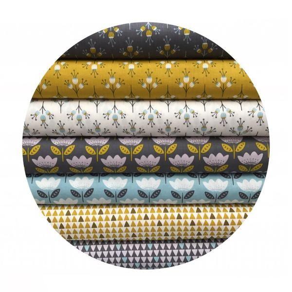 7 Fat Quarter Bundle - Josephine Collection - Camelot Fabrics – Pins & Needles Fabrics