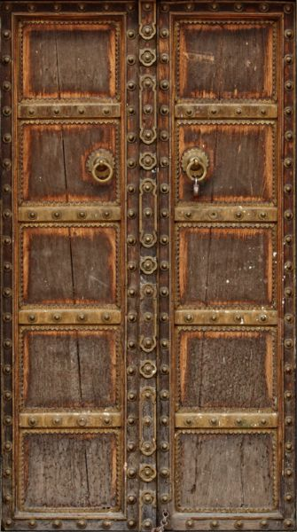 Ancient Wood Door Mural Wrap Make You Flat Boring Door