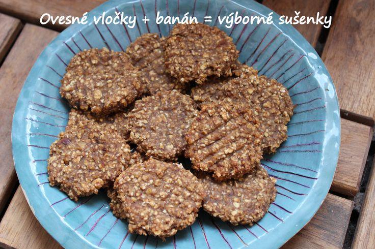 Sušenky ze dvou ingrediencí, které samozřejmě můžete podle své chuti vylepšit, například skořicí ;-)