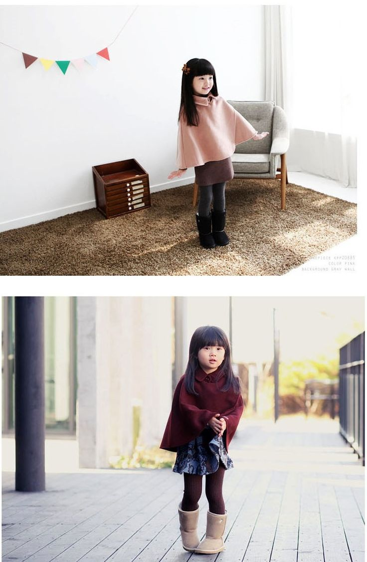 cute asian baby in poncho , i am gonna wear my poncho like that jeans ripped , plaid shirt autumn / fall /spring style