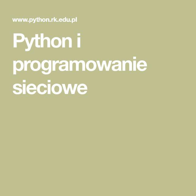 Python i programowanie sieciowe