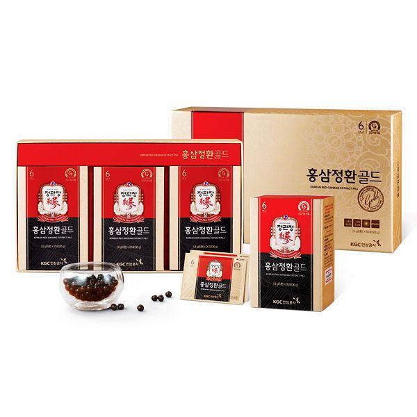 CheongKwanJang 6 year Old Korean Red Ginseng Extract Pills Gold 6pills*60 Packs #CHEONGKWANJANG