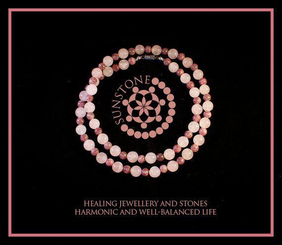 Vintage Rose Quartz-Pink Tourmaline Gemstone by SunstoneCraft