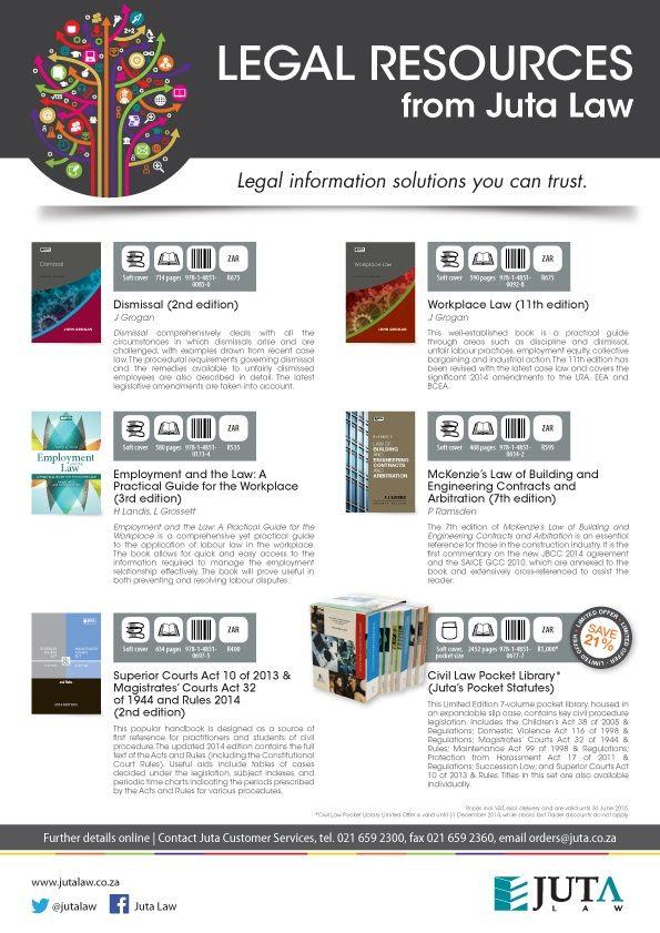 Juta's Latest Legal resources (October 2014)