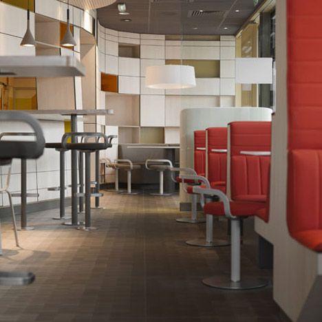 """""""Najwieksza sieć restauracji na świecie, McDonald's zleciła projektantowi Partykowi Norguet, odnowienie wizerunku wnętrza i wystroju sieci we Francji. Projekt wnętrz, jak to określił sam projektant, to nawiązanie i powrót do korzeni."""""""