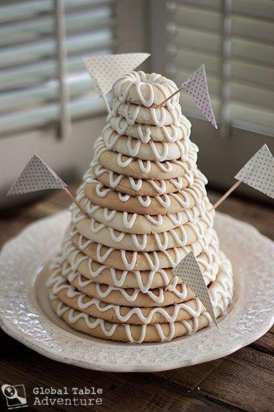 Scandinavian Ring Cake | Kransekake   Ahh memories...one of our groom's cakes