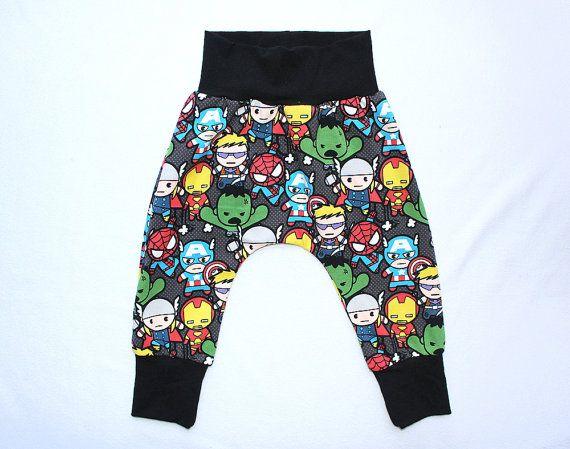 Baby Boy Kawaii Marvel Super Hero Harem Pants 0 6 12 by HiCheeky