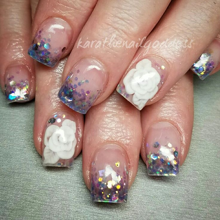41 best nails acrylic 3d images on pinterest encapsulated encapsulated 3d acrylic roses prinsesfo Choice Image