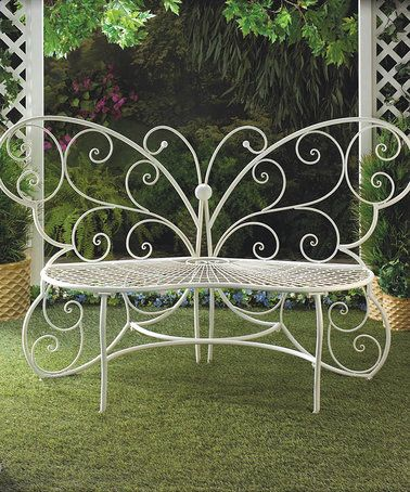Another great find on #zulily! Butterfly Garden Bench #zulilyfinds