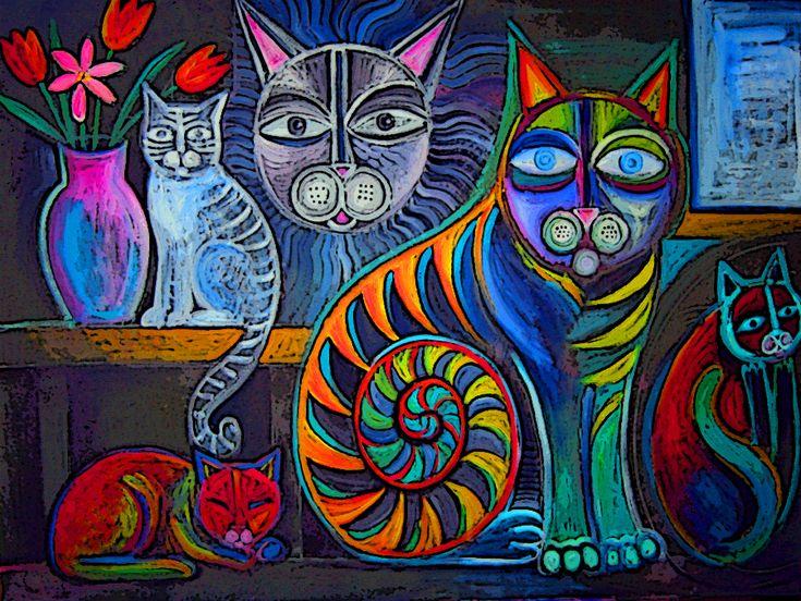 Neon Cats by karincharlotte.deviantart.com on @deviantART