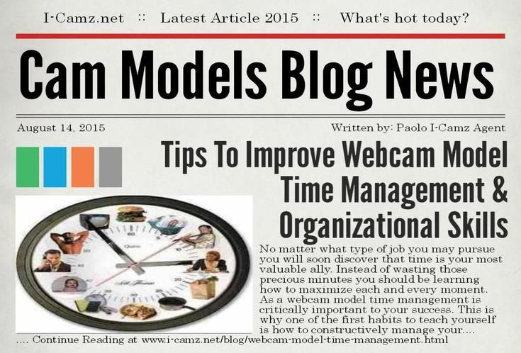 Latest article from www.i-camz.net Cam Models Blog - Learn about #WebcamModelTimeManagement to BOOST your $Earnings$!! http://www.i-camz.net/blog/webcam-model-time-management.html