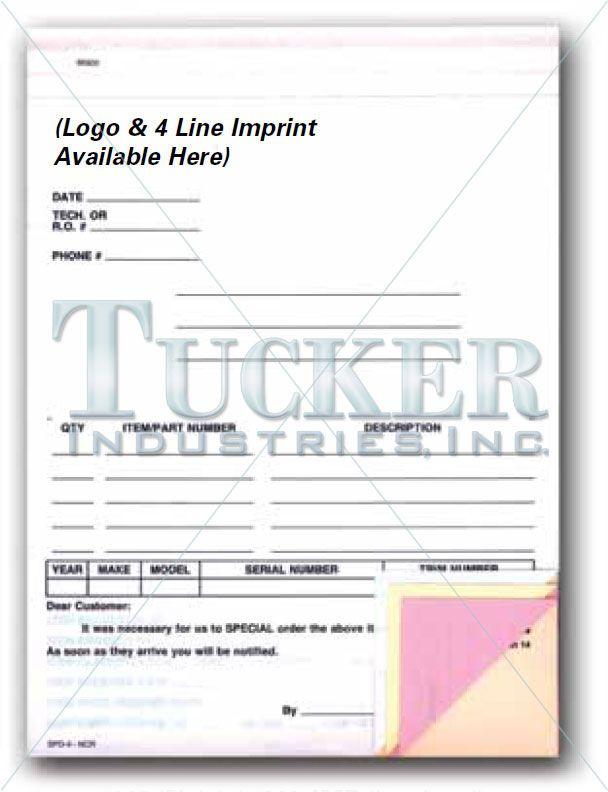 Warranty Parts Tag \u2022 6-1/4\