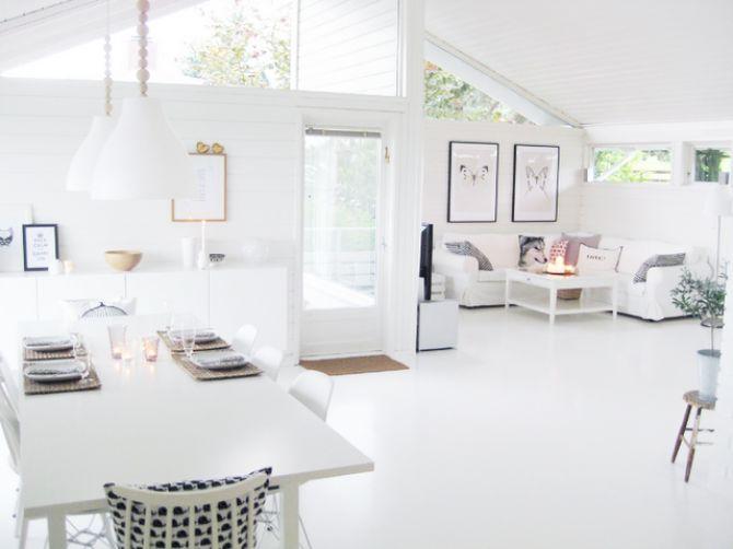 #excll #дизайнинтерьера #решения Белый цвет наполняет пространство светом.