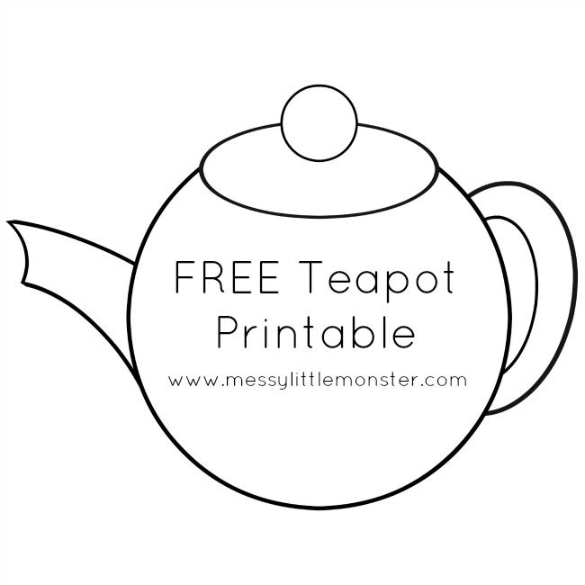 Messy Little Monster: Teapot Craft with Free Printable