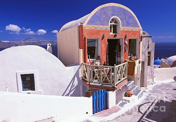 Colorful Shops In Oia,Santorini