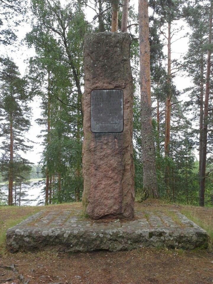 Runebergin kumpu - The hill point of Runeberg - Punkaharjun Harjualue