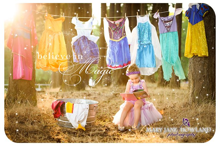 Princess Photography, Child Photography, Princess Photo Shoot, Princess doing Laundry Photo Shoot