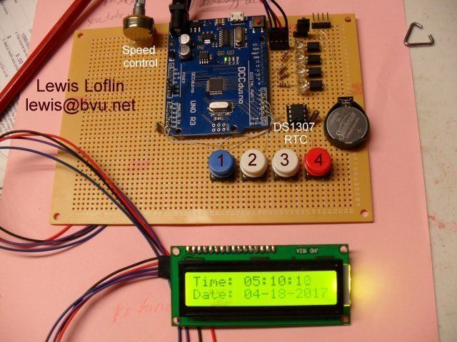 Arduino controller board with real time clock DS1307  | Arduino