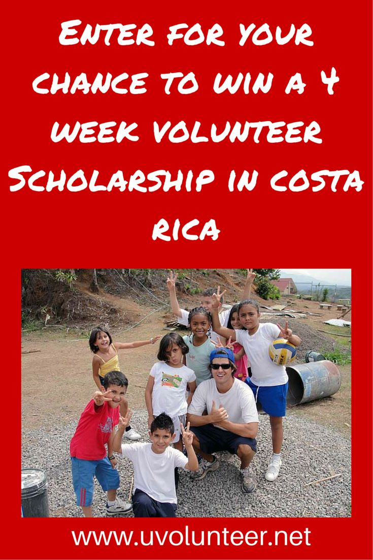 Enter today for your chance to win a free 4 week volunteer placement in Costa Rica. Click here to learn more:  http://info.uvolunteer.net/volunteer-scholarship