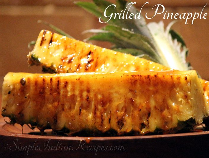 Grilled Pineapple in Spiced Caramel Sauce, Barbeque Nation | Simple Indian Recipes