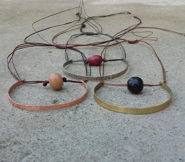 handmade necklaces/ bronze/ copper/ cuff/ silver/ beads/ petal/ contemporary jewel/ greekjewel/ K.ompo.S- Handmade Jewel