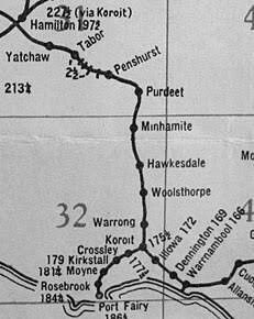 Koroit Railway map, Koroit Victoria Australia