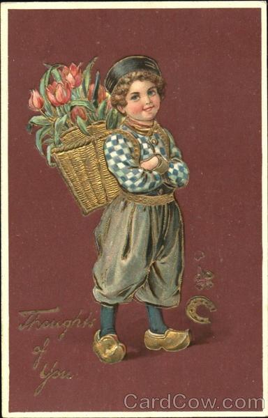 Dutch Boy♥ with Tulips Boys
