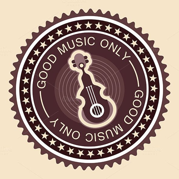 Old fashioned musical label by dan on Creative Market