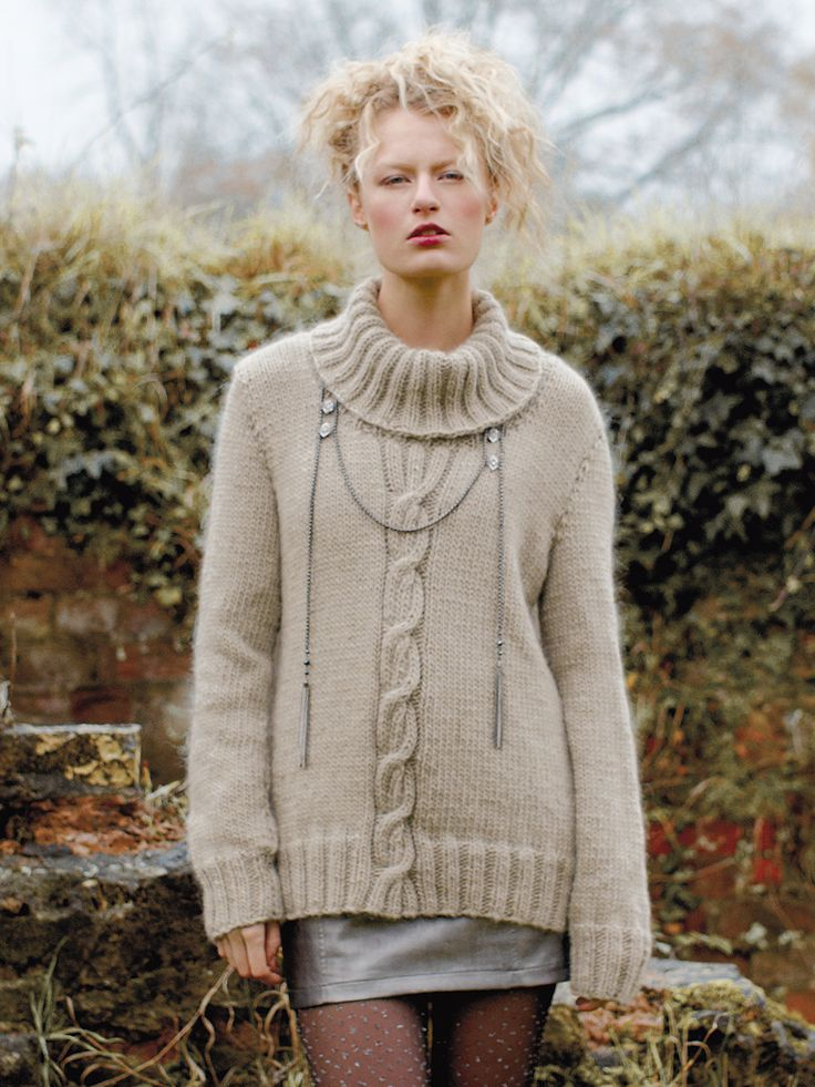 Nippy Knit This Ladies Chunky Roll Neck Sweater From